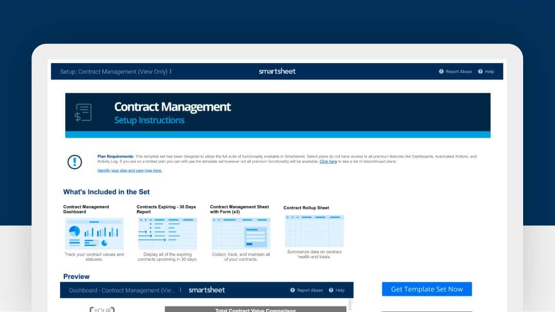 Contract management template