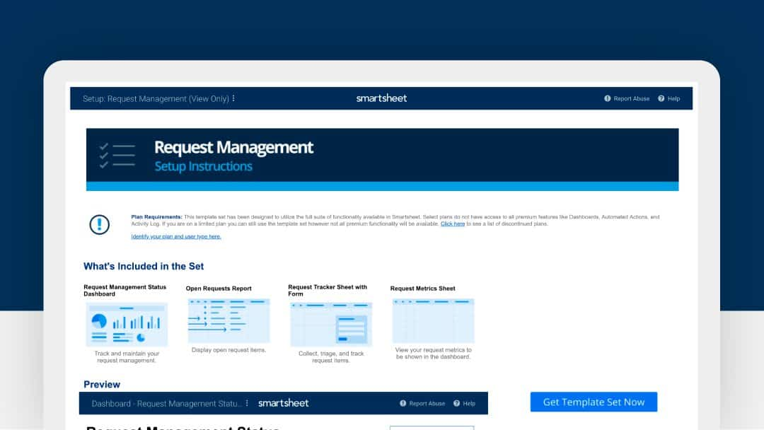 Request management template