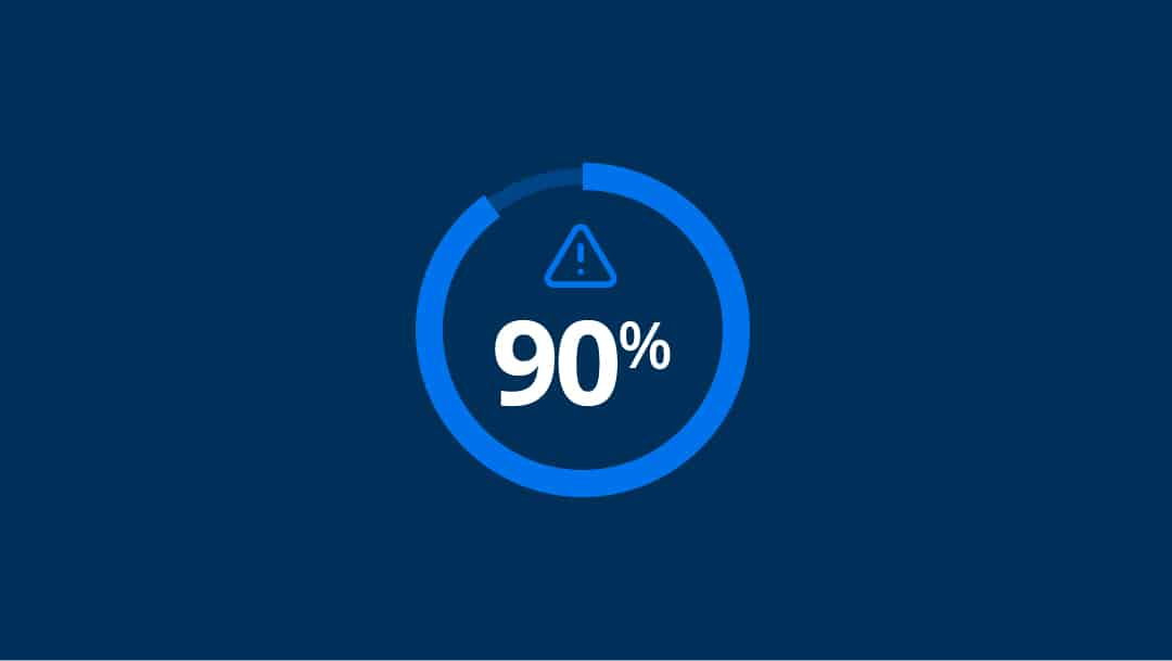90 percent statistic with icon