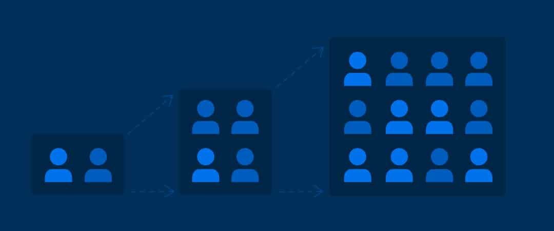 Icons illustrating scaling a business