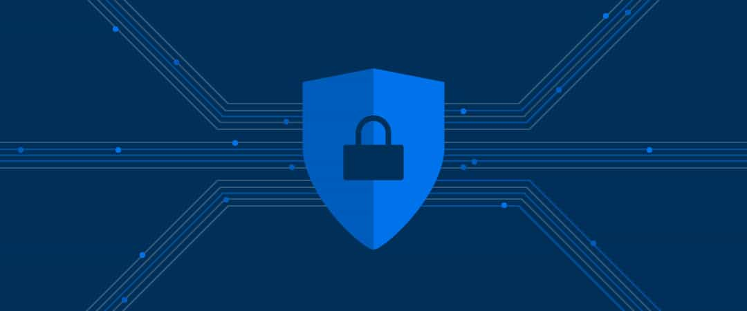 Illustration of lock with security shield