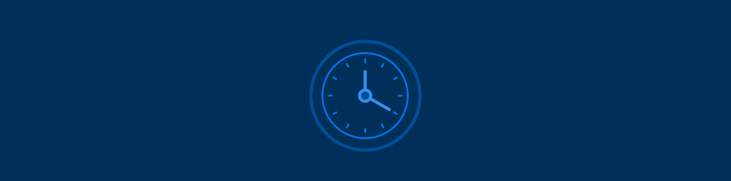 Graphic with an icon of a clock