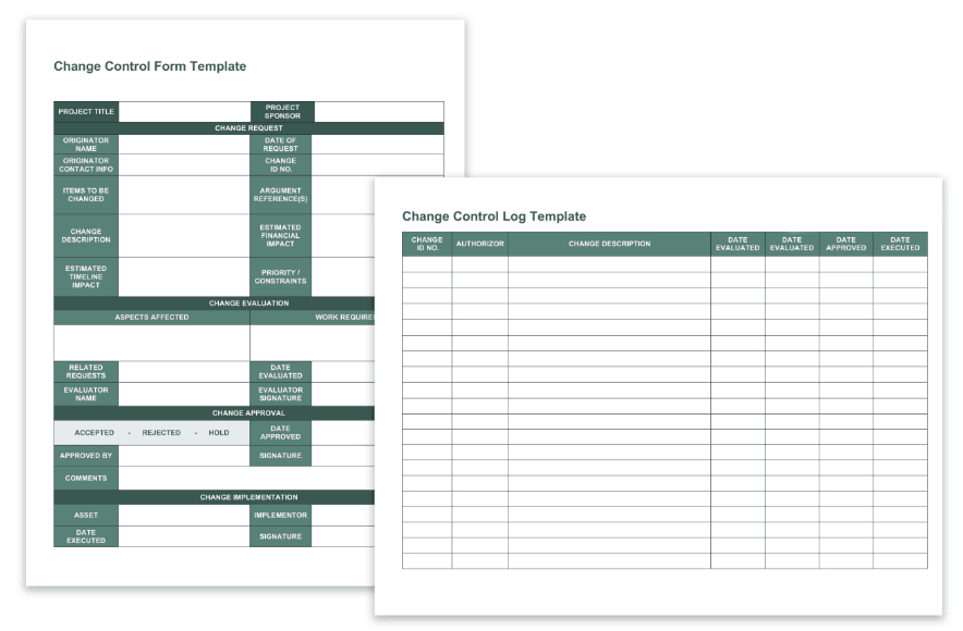 Change Control Form Template Revised