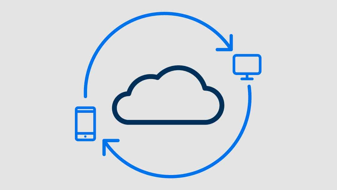 Icon of cloud-based SaaS data synchronization