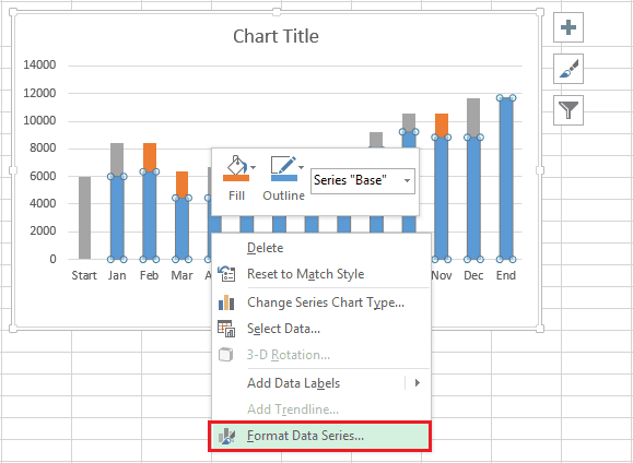 How to create a waterfall chart in excel and powerpoint formatdataseriesg ccuart Choice Image