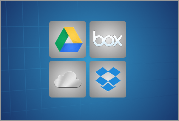 Sync with Cloud Services like Google Drive