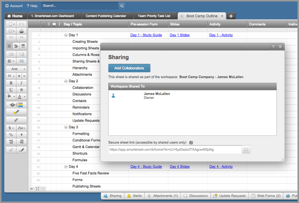 Share with Team Members in Gantt Software