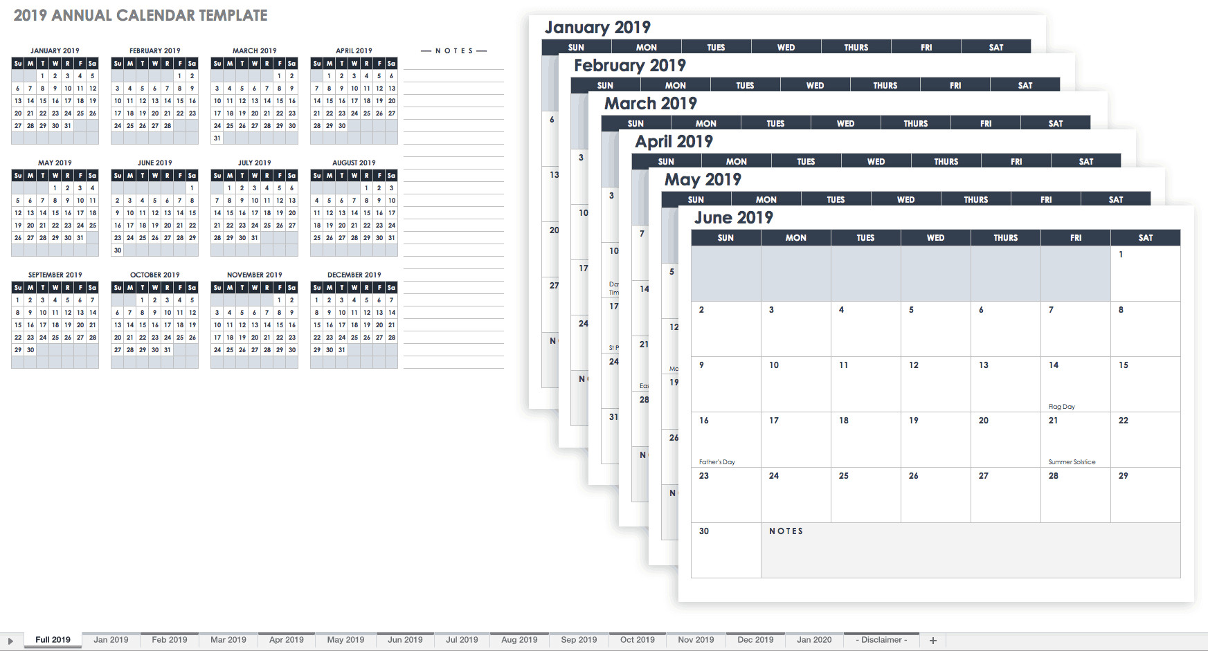 Monthly Calendar For 2019 15 Free Monthly Calendar Templates | Smartsheet