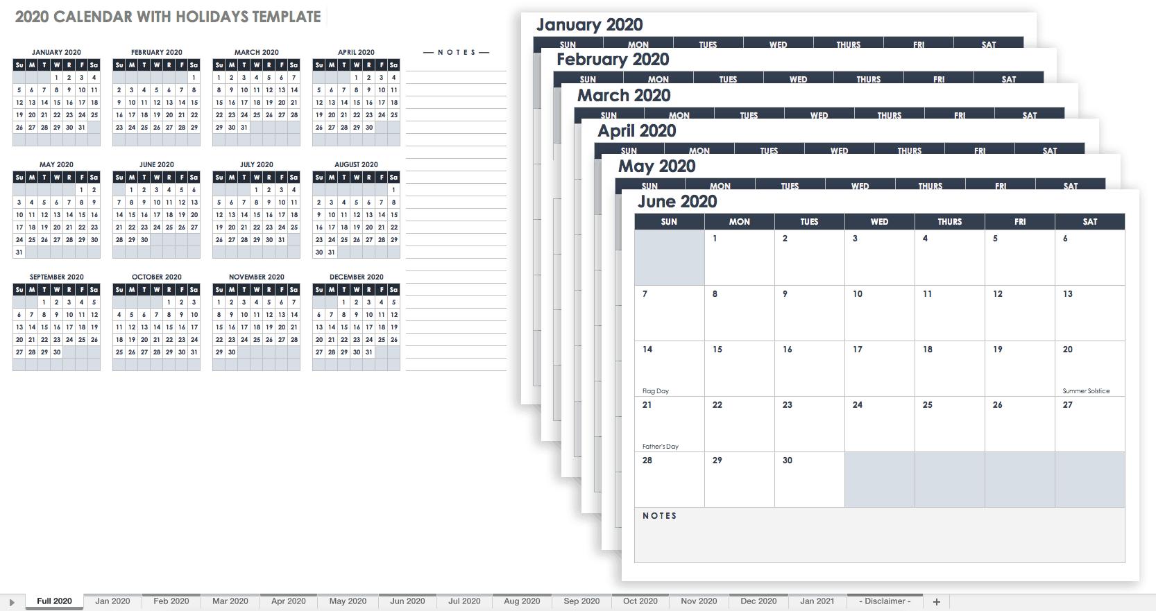 Mini Calendario 2020 Png.Free Google Calendar Templates Smartsheet