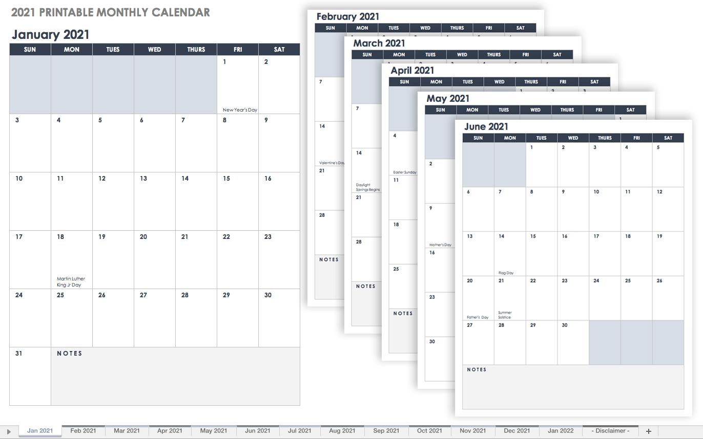 Calendrier Social Media 2022 Free Google Calendar Templates | Smartsheet