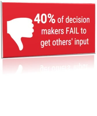 40 decision makers fail to get input