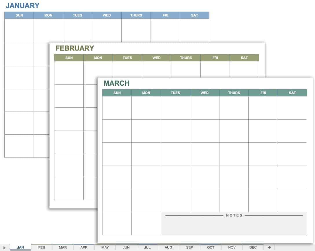 Dynamic image pertaining to monthly planner template