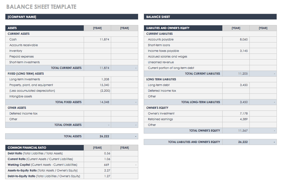Balance Sheet Template | Free Account Reconciliation Templates Smartsheet