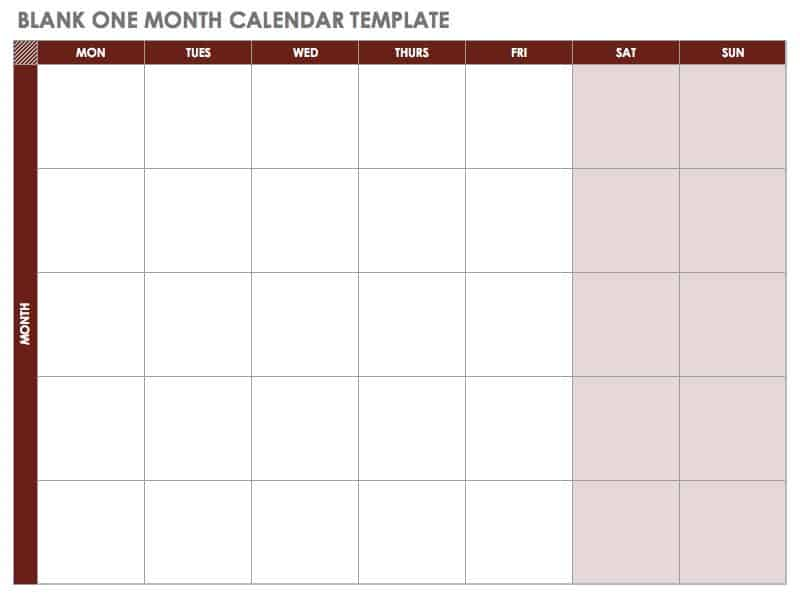 picture relating to Two Page Monthly Calendar Template known as 15 Absolutely free Every month Calendar Templates Smartsheet