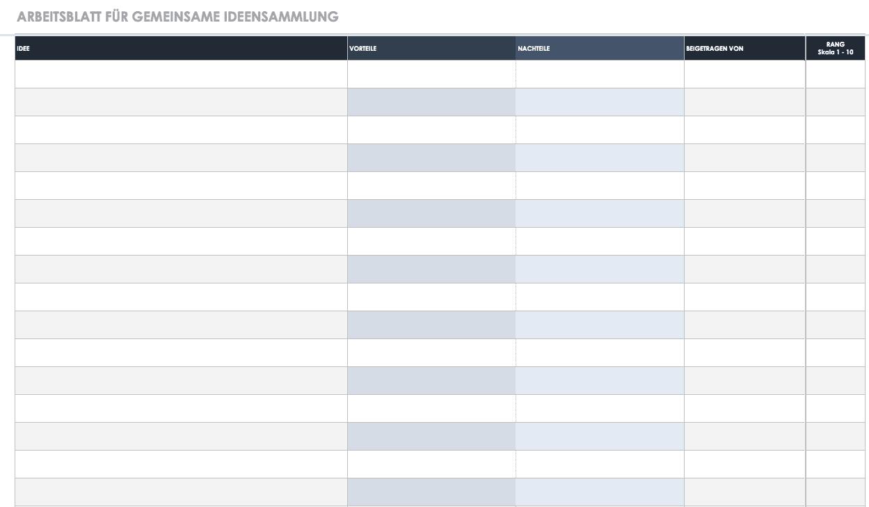 Kostenlose Vorlagen Aufgaben & Checklisten | Smartsheet