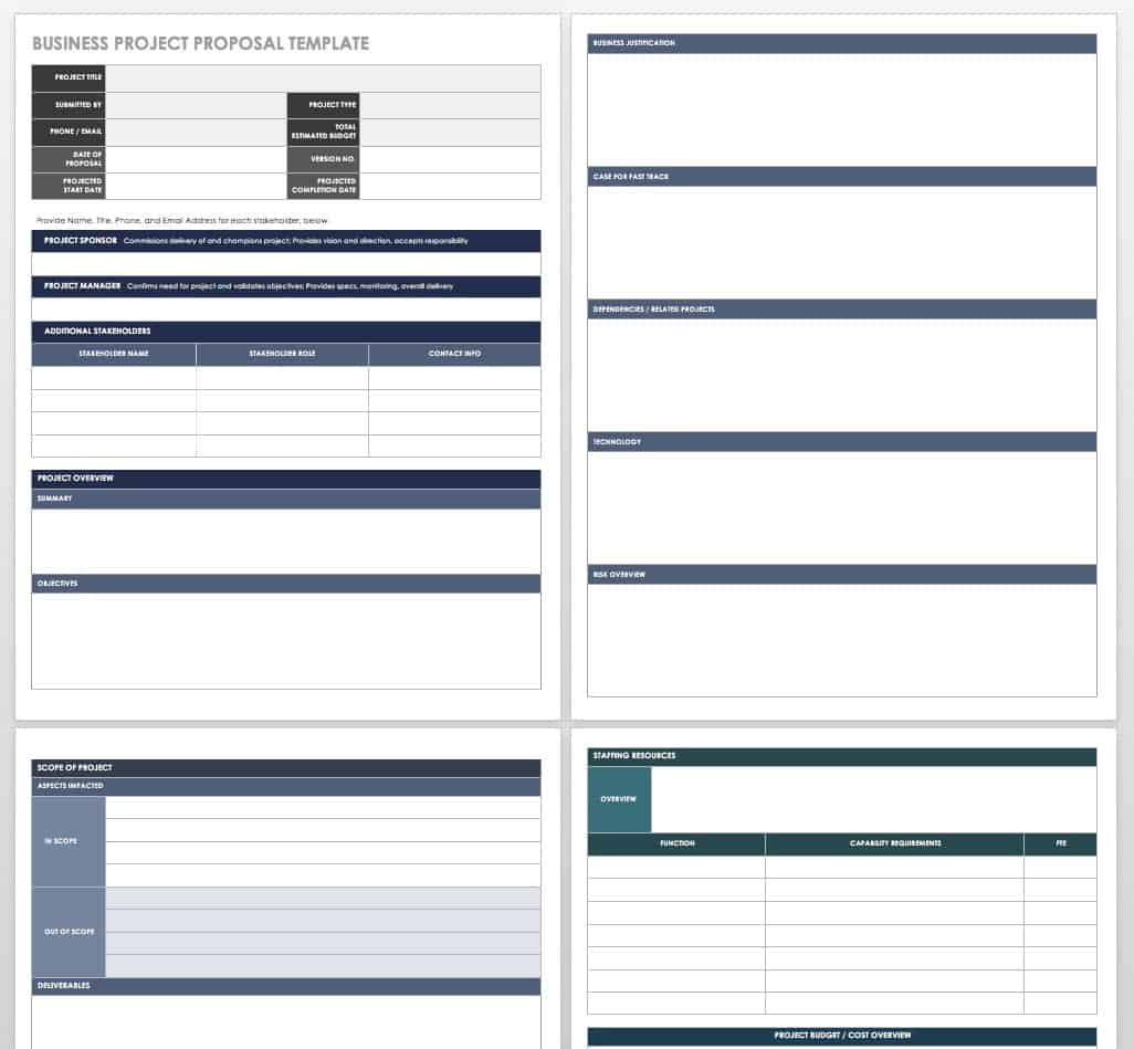 17 Free Project Proposal Templates + Tips | Smartsheet