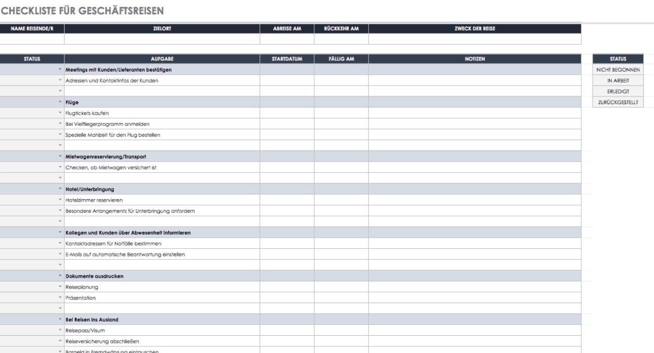 Kostenlose Vorlagen Aufgaben Checklisten Smartsheet