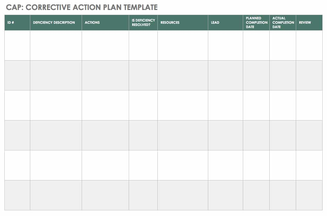An Introduction To Corrective Actions Smartsheet