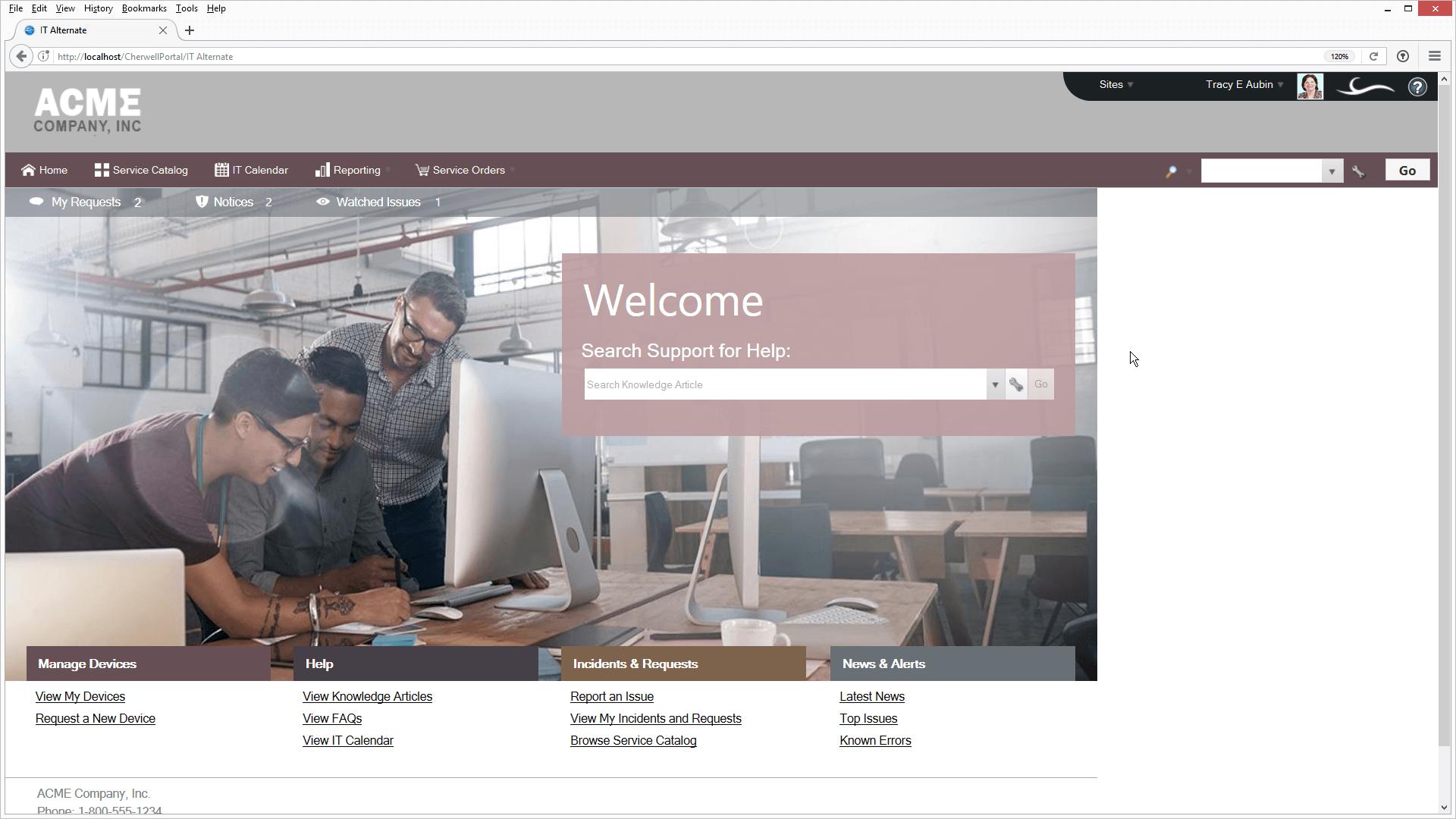 Cherwell Self Service Portal