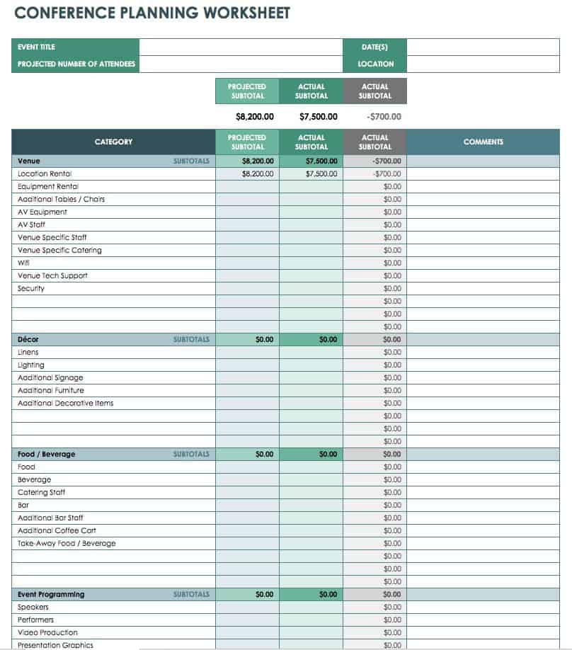 Ic Conference Planning Worksheet Event Budget Template Jpg