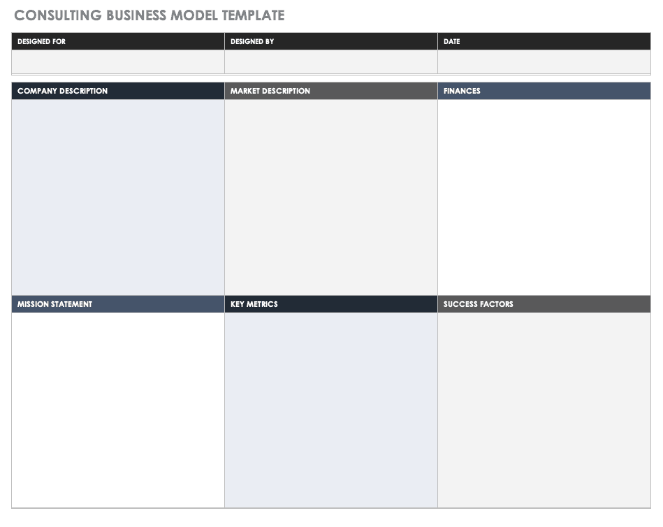 Consulting Business Model Template