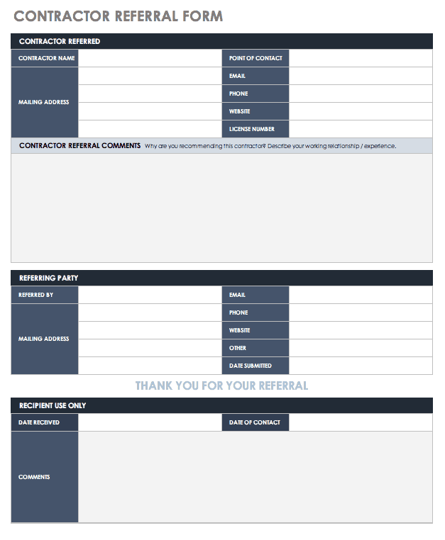 Contractor Referral Form