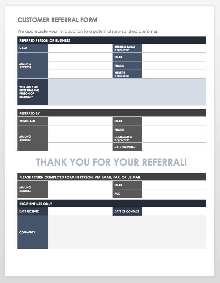 Customer Referral Form