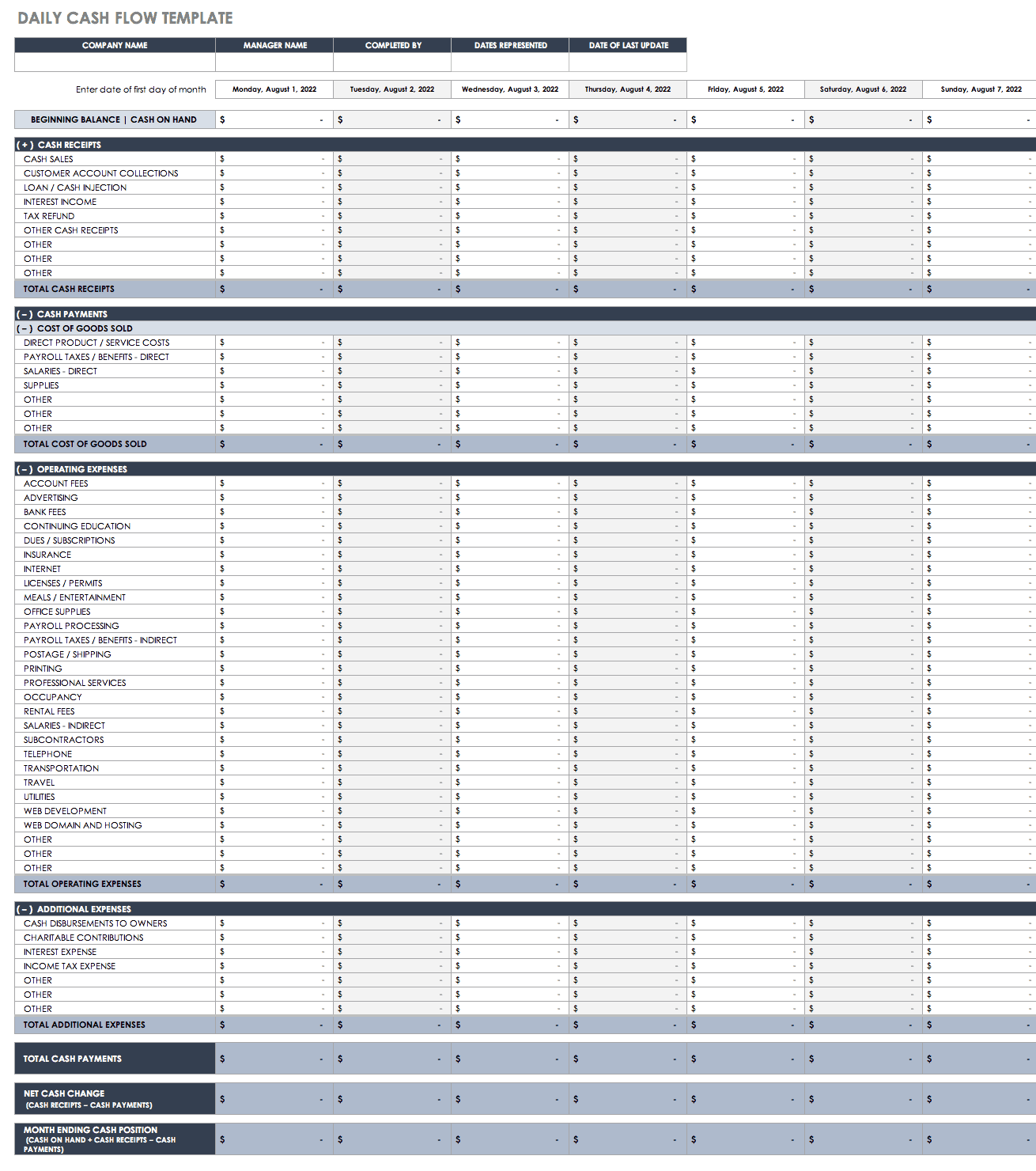 Bank Reconciliation Excel Template from www.smartsheet.com