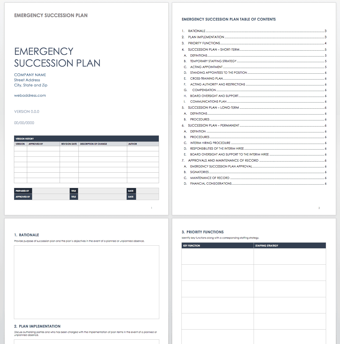 Free Succession Planning Templates Smartsheet