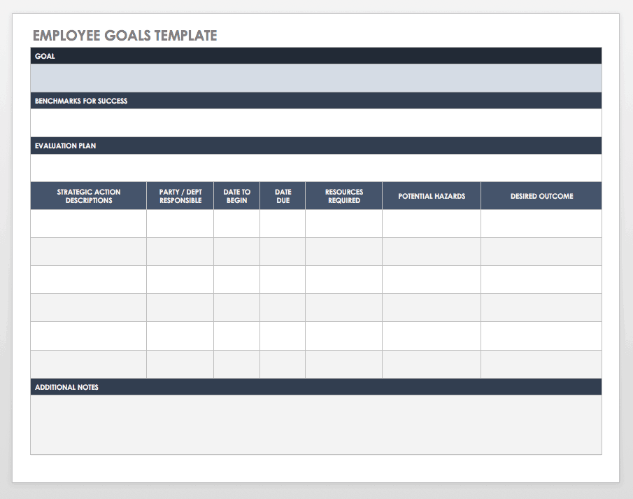 image regarding Weekly Goal Sheets named No cost Objective Environment and Monitoring Templates Smartsheet