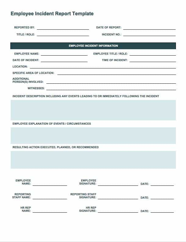 Free Incident Report Templates & Forms | Smartsheet