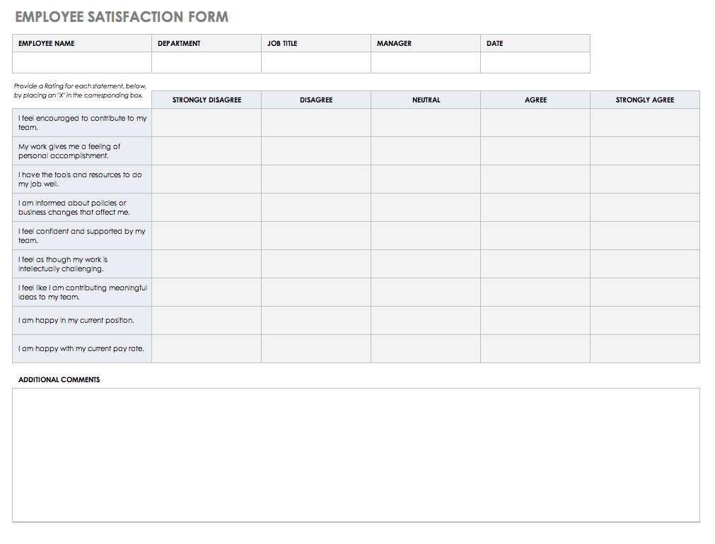 Free Feedback Form Templates Smartsheet