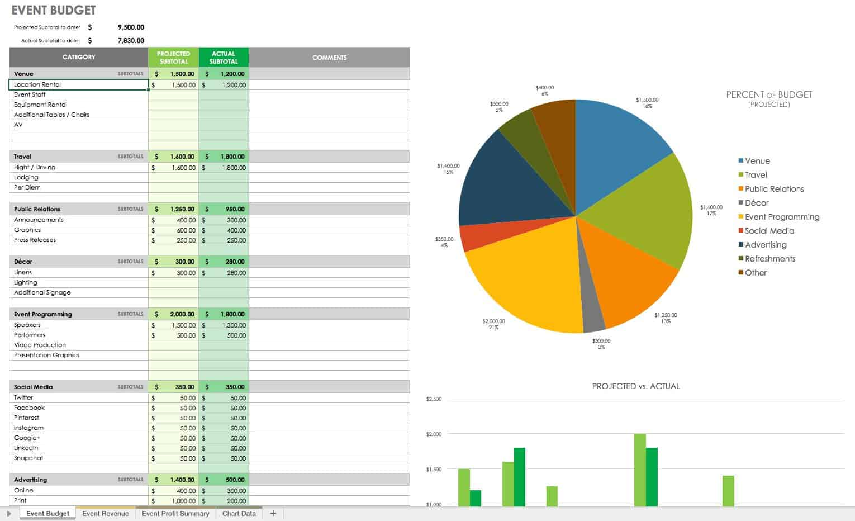 21 Free Event Planning Templates Smartsheet