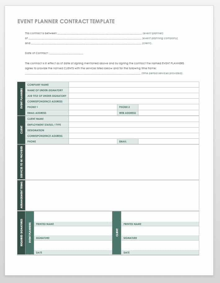 image about Free Printable Wedding Planner Workbook Pdf identified as 21 Absolutely free Function Building Templates Smartsheet