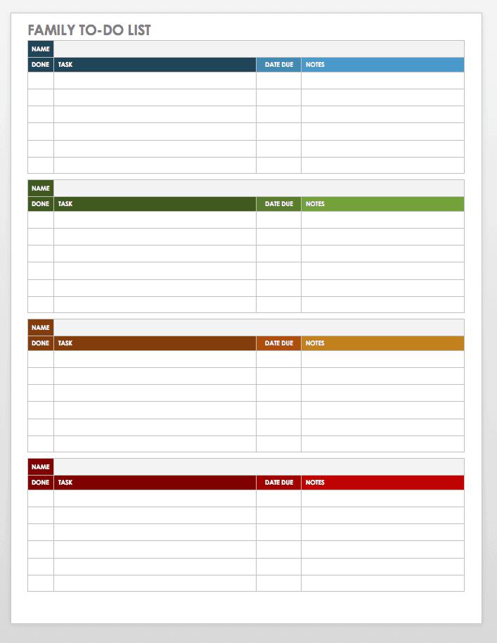 30 Free Task And Checklist Templates Smartsheet
