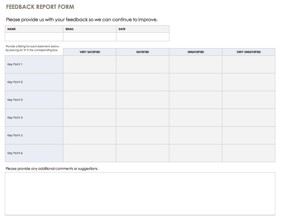 feedback form template xls Free Feedback Form Templates  Smartsheet