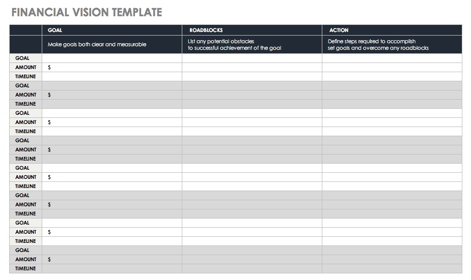 Financial Vision Template