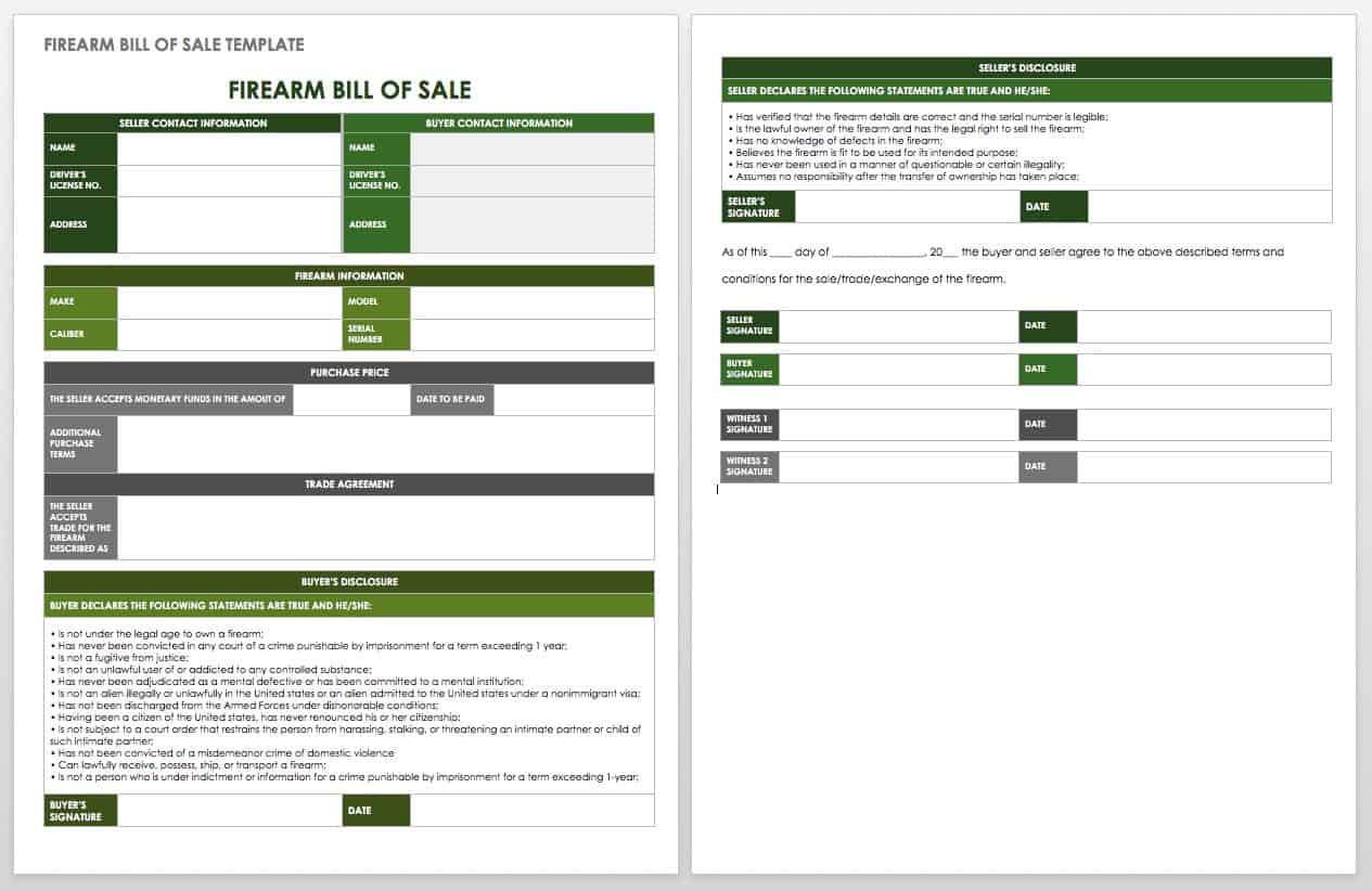 15 Free Bill of Sale Templates | Smartsheet