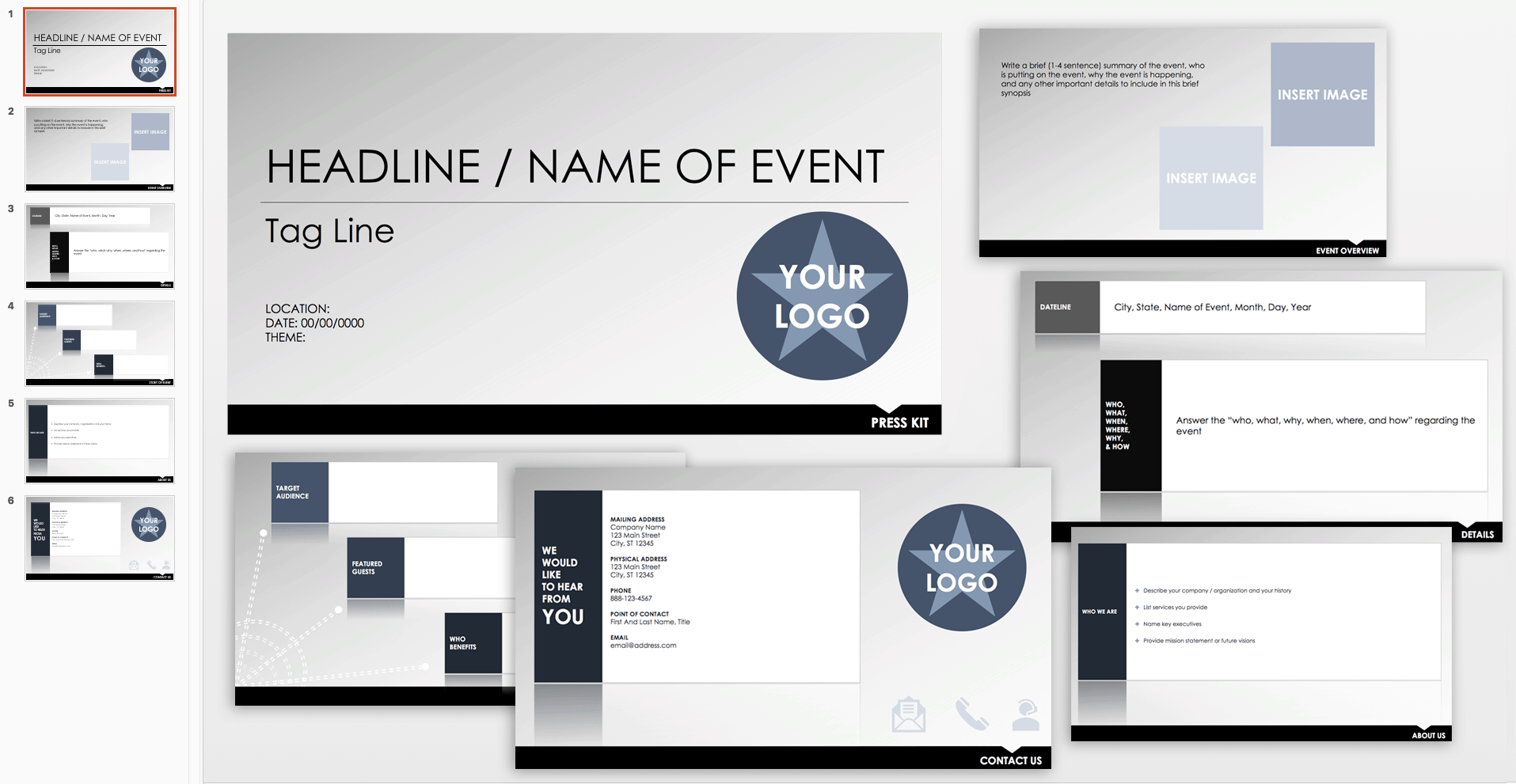Free Event Press Kit Template
