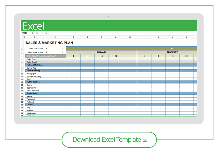 Free Channel Marketing Plan Template For Excel 9 Annual Marketing