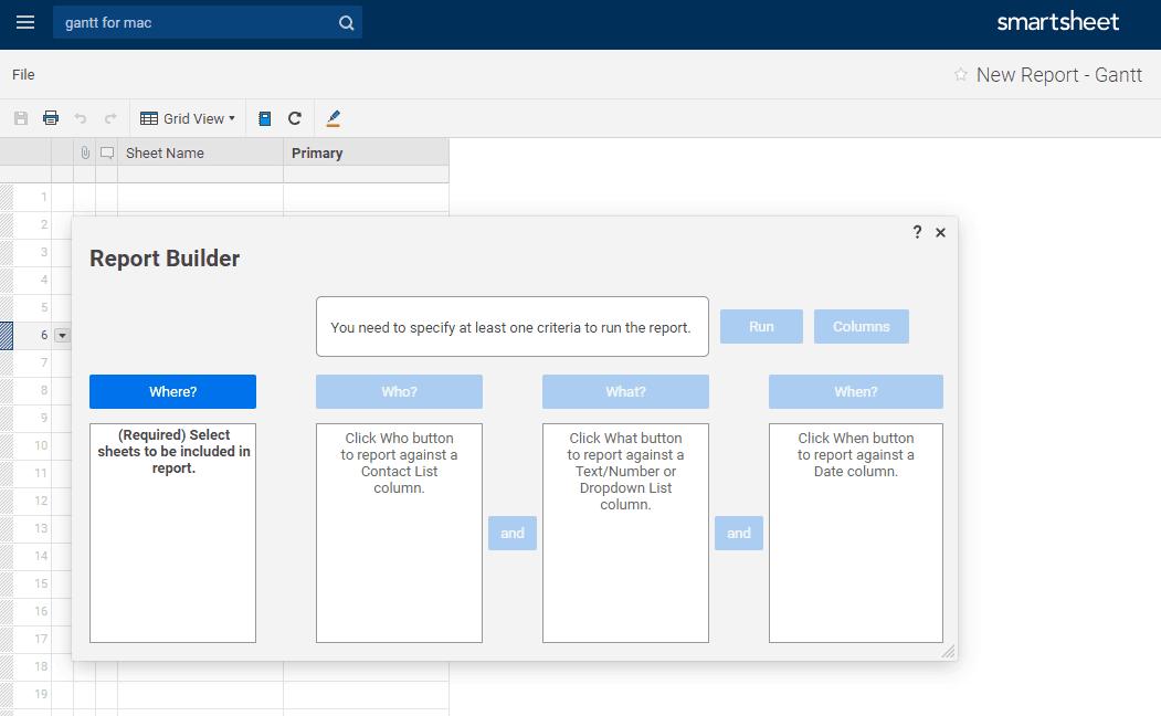 Generate Smartsheet Report