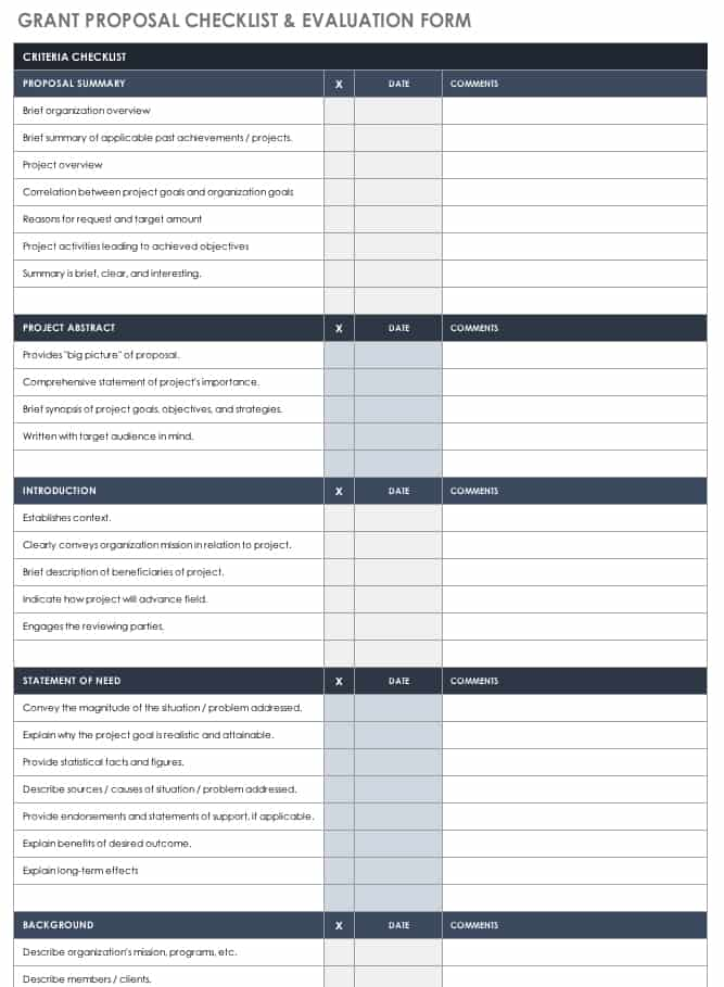 Free Grant Proposal Templates | Smartsheet