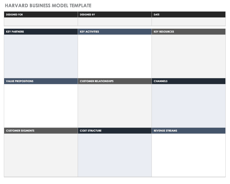 Harvard Business Model Template