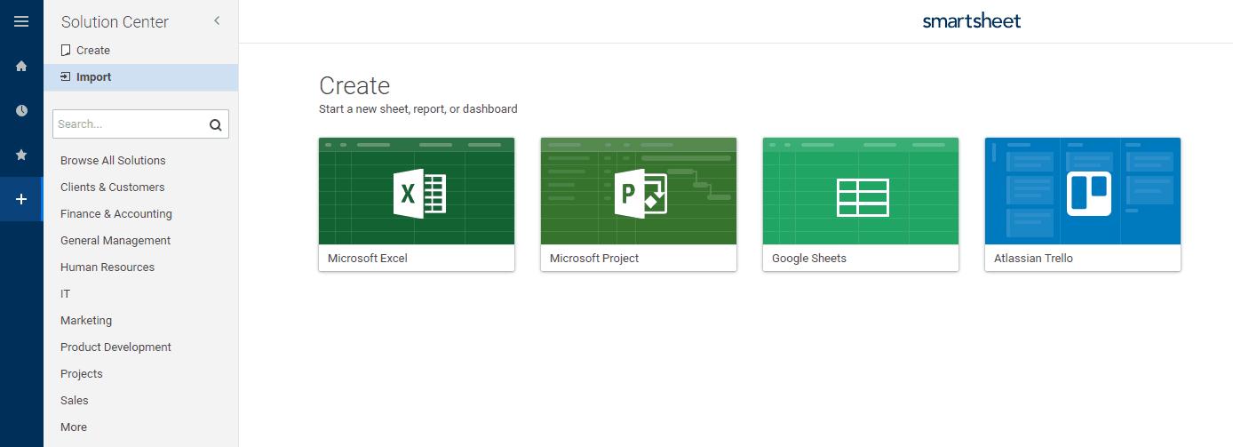 Comment importer un fichier dans Smartsheet?
