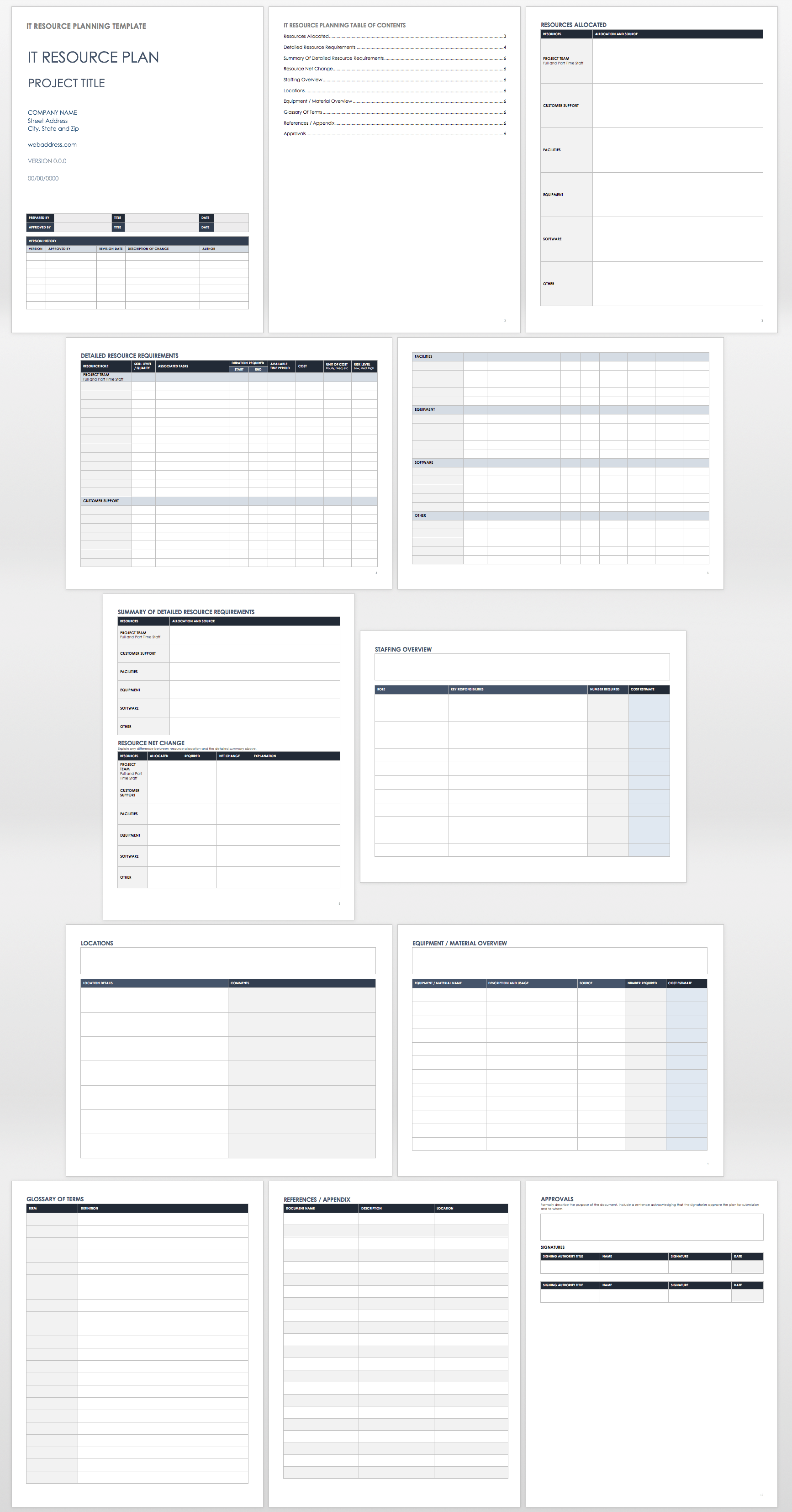 IT Resource Planning Template