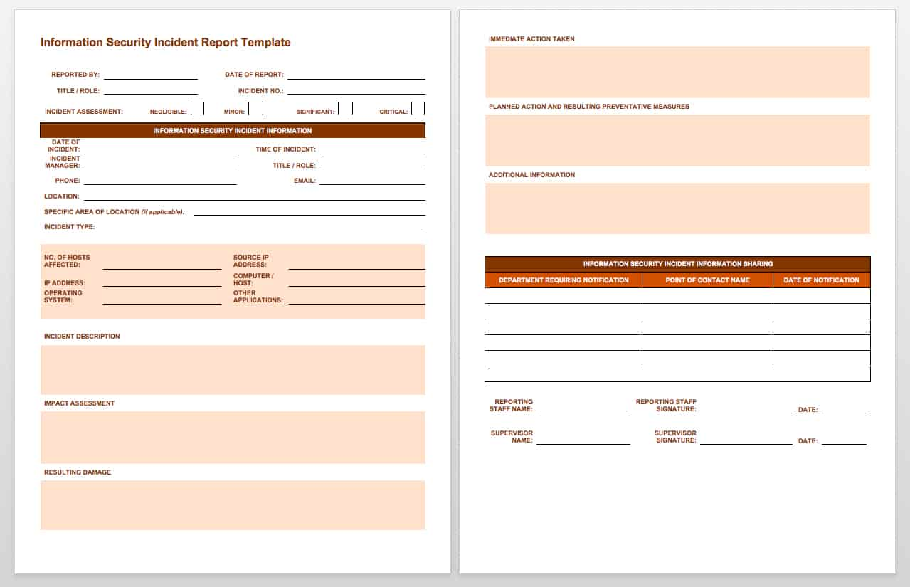 Businesses Can Use This IT Incident Report Template To Incidents Such As Data Breaches Privacy Violations Viruses And Denial Of Service Attacks