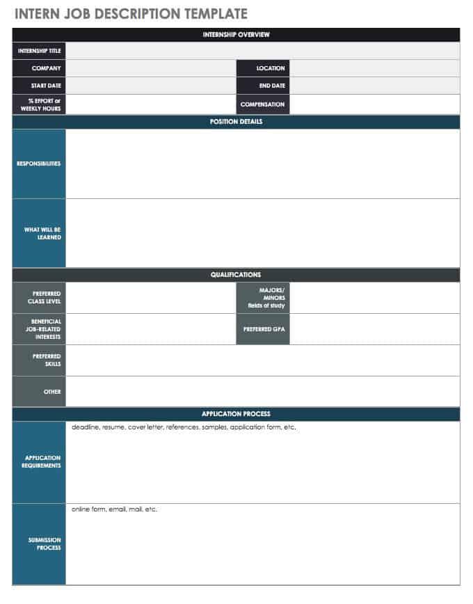 Free Job Description Templates | Smartsheet