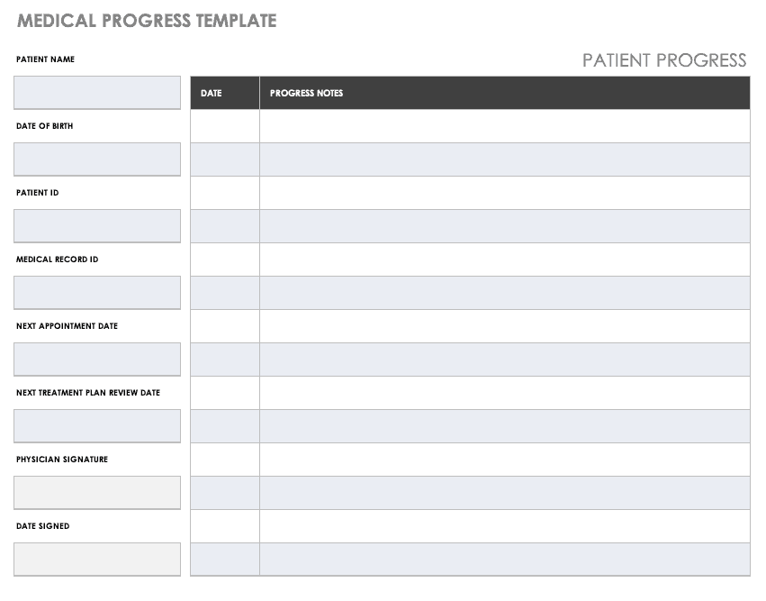 graphic about Free Medical Forms known as No cost Healthcare Type Templates Smartsheet