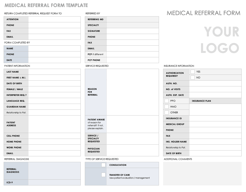 image about Medical Form Templates known as Absolutely free Healthcare Variety Templates Smartsheet