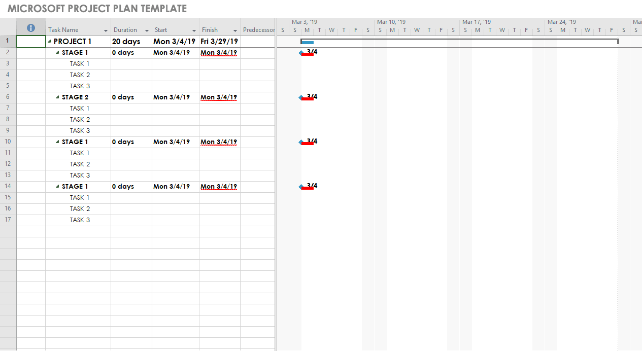 Microsoft Project Template Download from www.smartsheet.com